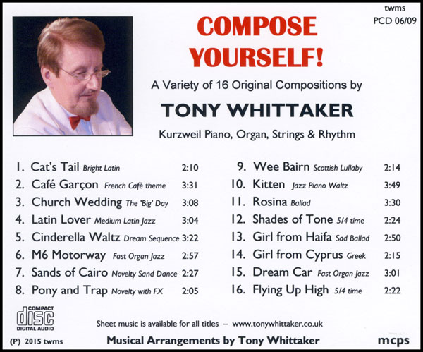Tony Whittaker - Compose Yourself! (Inlay)