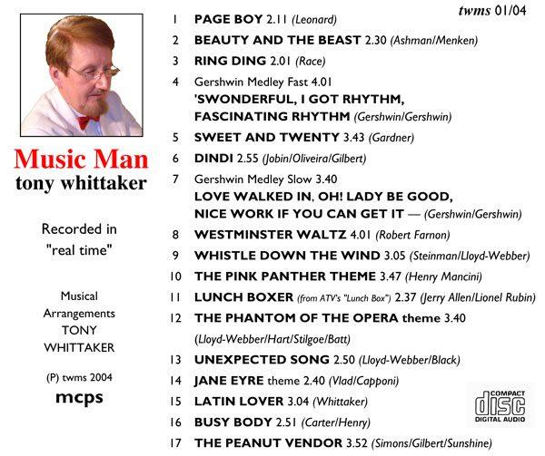 Tony Whittaker - Music Man (Inlay)